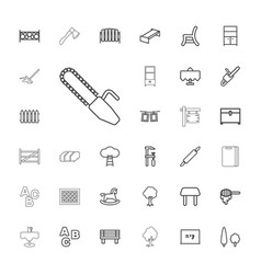 33 wood icons vector
