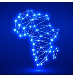 Abstract polygonal Africa map vector