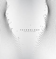 abstract technology dots mesh vector image