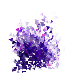 abstract violet triangles template background vector image