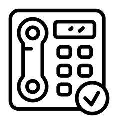 Accessible telephone icon outline style vector