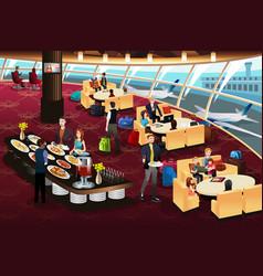 airport lounge scene vector image