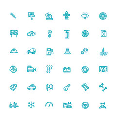 auto repair service outline symbols vector image