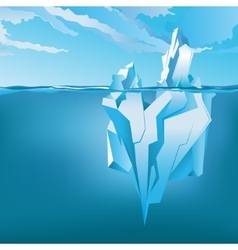 Background with Iceberg vector