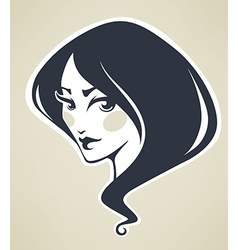 beauty avatar vector image