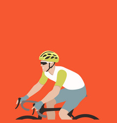 bicyclist flat style profile vector image