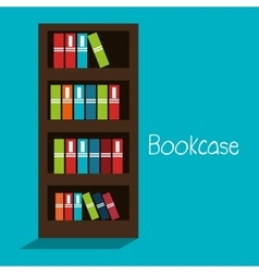 bookcase isolated design vector image