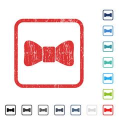 bow tie icon rubber watermark vector image