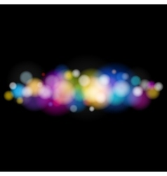 Bright Defocused Lights on Black Background vector