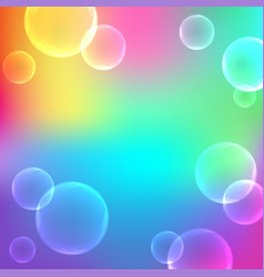 bubbles on abstract gradient background vector image