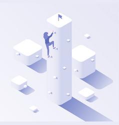 business climbing target progress success career vector image