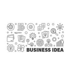 business idea outline vector image