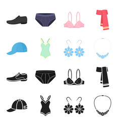 cap earrings necklace swimsuit clothing set vector image