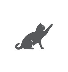 cat icon on white background vector image