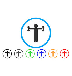 Child fitness rounded icon vector