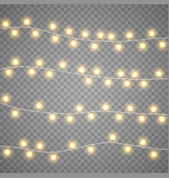 Christmas garlands isolation on transparent vector