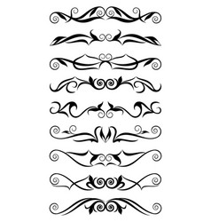 Classic black and white borders vector