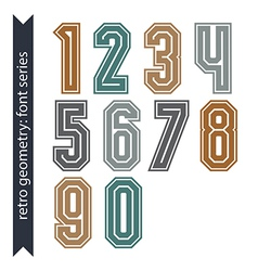 Colorful regular acute-angled digits bright poster vector