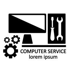 computer service symbol vector image