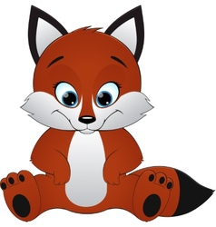 Cute fox vector