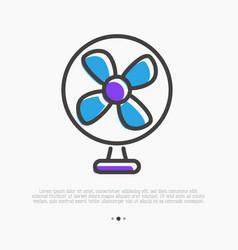fan thin line icon minimal vector image