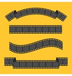 Film strip frame four set Different shape ribbon vector