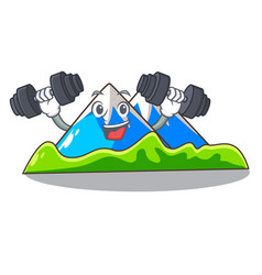 Fitness beautiful mountain in the cartoon form vector