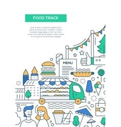Food Track - line design brochure poster template vector image