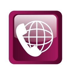 Global phone icon symbol design vector image