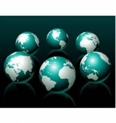 globe illustrations vector image