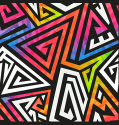 Graffiti geometric pattern vector