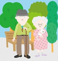 Grandpa Grandma vector