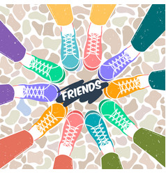 greetings card pairs of shoes vector image