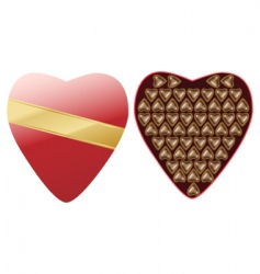 heart chocolate vector image