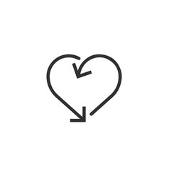 heart made out arrows heart arrow frameicon vector image