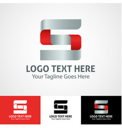 Hi-tech trendy initial icon logo s vector