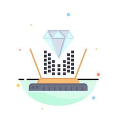Hologram projection technology diamond business vector