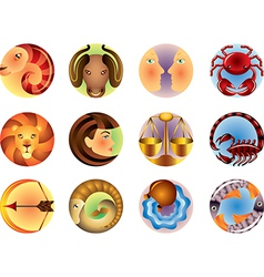 Icons zodiac vector