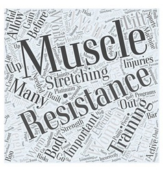 Importance of resistance training for women Word vector