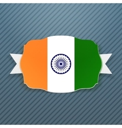 India Flag Badge with Ribbon vector