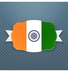 India flag badge with ribbon vector