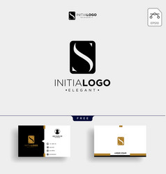 initial s luxury logo template and business card vector image