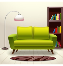 Interior design sofa vector