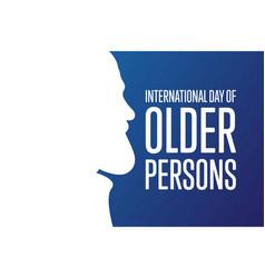 International day older persons october 1 vector