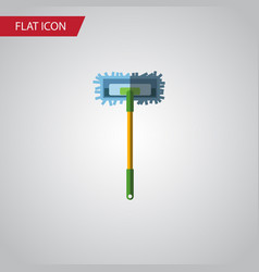 isolated broomstick flat icon besom vector image