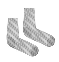 Knitted socks Woollen clothing for cold weather vector image