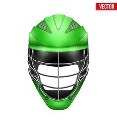 lacrosse helmet front view vector image