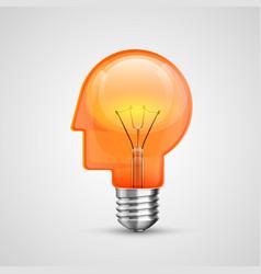 Lamp head concept creative idea vector