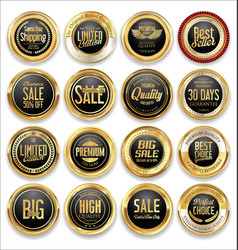 luxury retro badge and labels collection 04 vector image