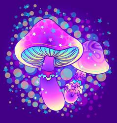 Magic mushrooms psychedelic hallucination vector